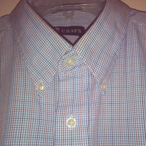 Chaps   checkered  botton down shirts men